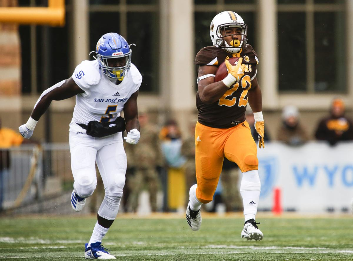nico evans 1 000 yard season worth the wait for wyoming running