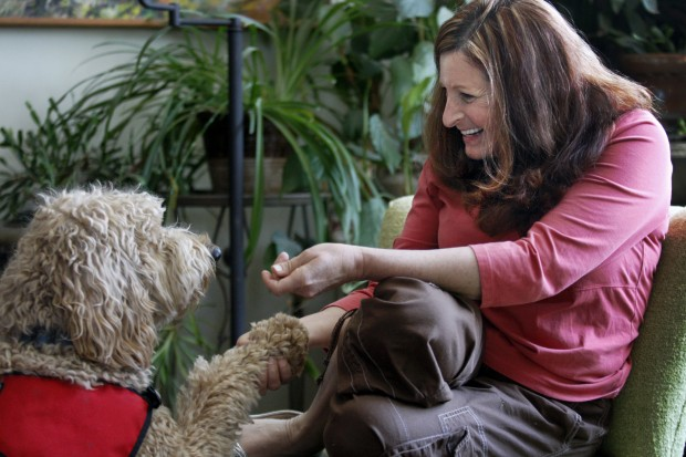 Andi Berry and Lucy the dog
