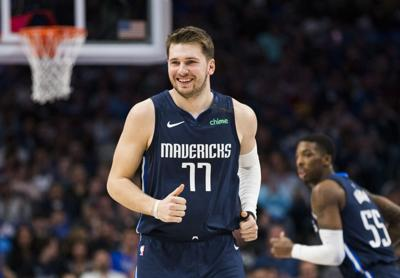 Dallas Mavericks guard Luka Doncic smiles during action against the Indiana Pacers on March 8, 2020, at American Airlines Center in Dallas.