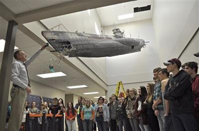 Students build 30-foot submarine installation