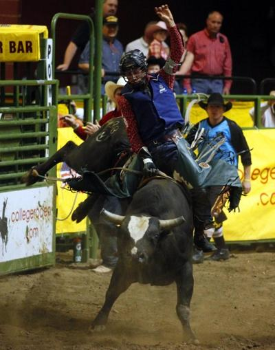Cnfr Hill College Bull Rider Guts Out Third Go Round Ride