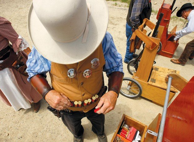 Fantasy gunfighters square off in cowboy action shooting matches