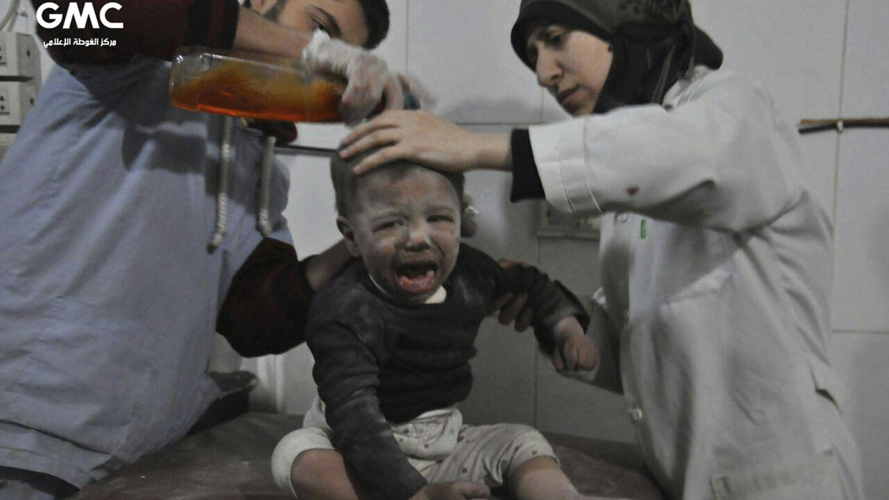 Graphic photos: Hospitals targeted, overwhelmed in Syrian suburbs bombing blitz