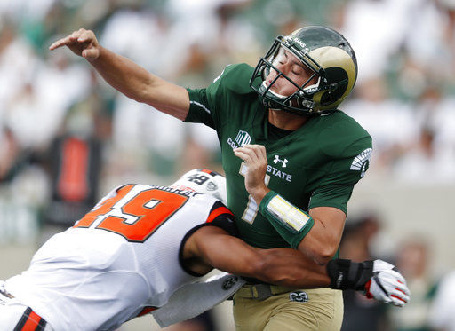 Colorado St opens new stadium by beating Oregon St 58-27