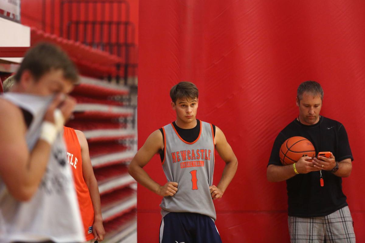 North boys basketball practice