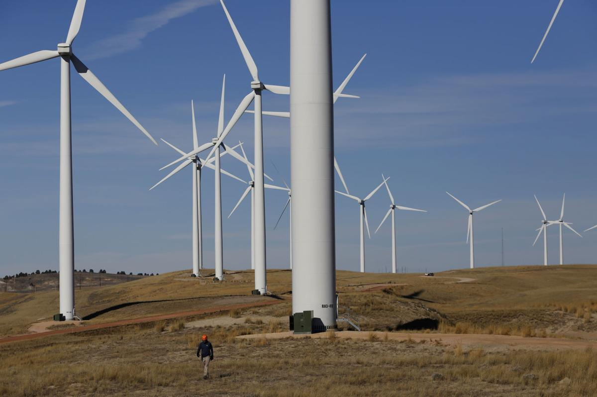 Perched among the turbines, West Inc  technicians keep an