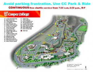 Casper College parking and shuttle map | | trib.com on