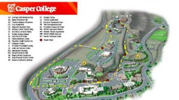 Casper College parking and shuttle map     trib.com on