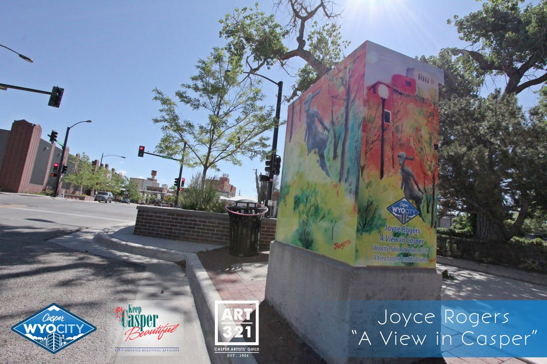 image titled decorate. A Work Titled \u201cA View In Casper,\u201d By Joyce Rogers, Decorates Signal Box Downtown Casper. Keep Casper Beautiful And ART 321 Are Calling For Local Image Decorate