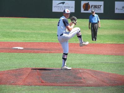 Corbin Kirk pitching