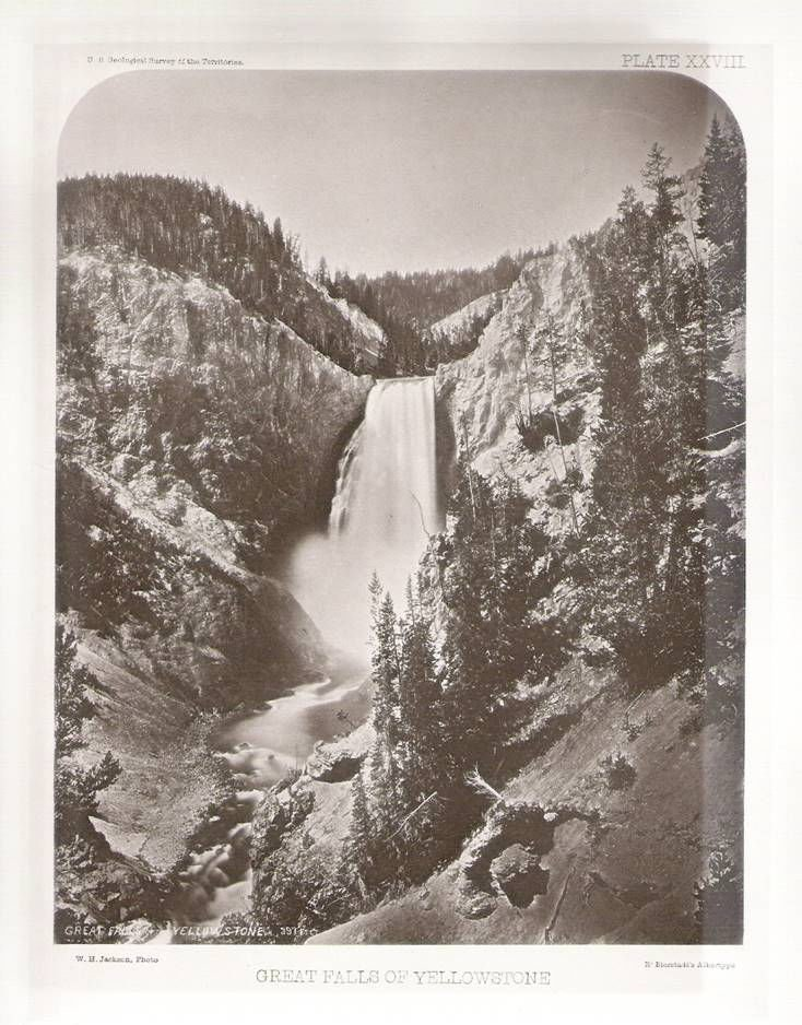 Collection of first Yellowstone photos makes Wyoming debut ... First Photographs Of Yellowstone