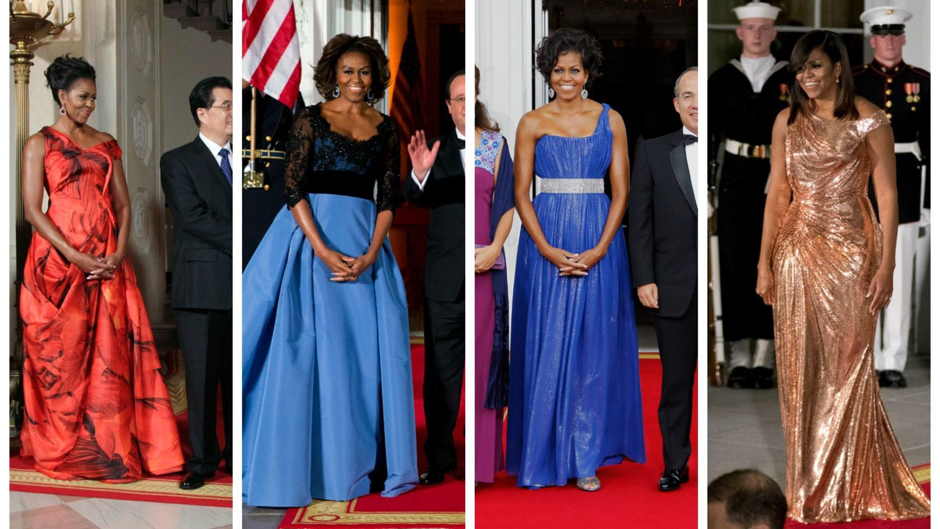 A look back at Michelle Obama's state dinner style