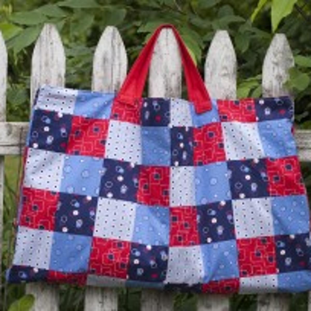 Waterproof Picnic Blanket Folds Into A Tote Home And