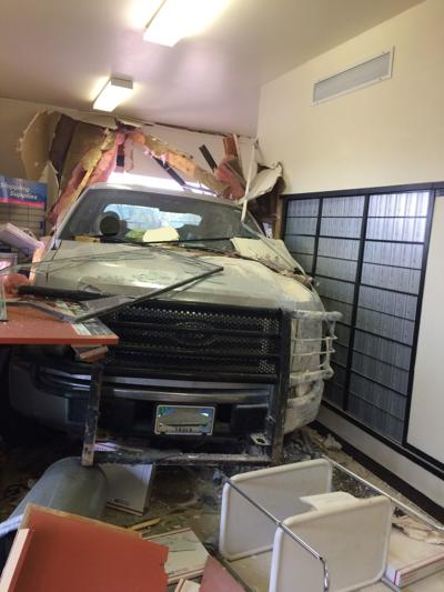 Rural Wyoming community loses mail service after pickup crashes into