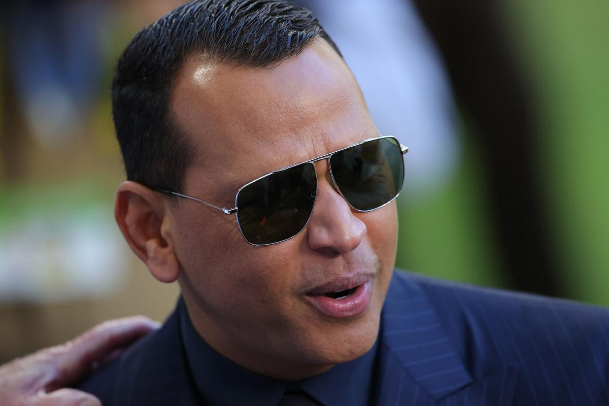 Former baseball player Alex Rodriguez looks on before Super Bowl LIV at Hard Rock Stadium on February 2, 2020, in Miami Gardens, Florida.