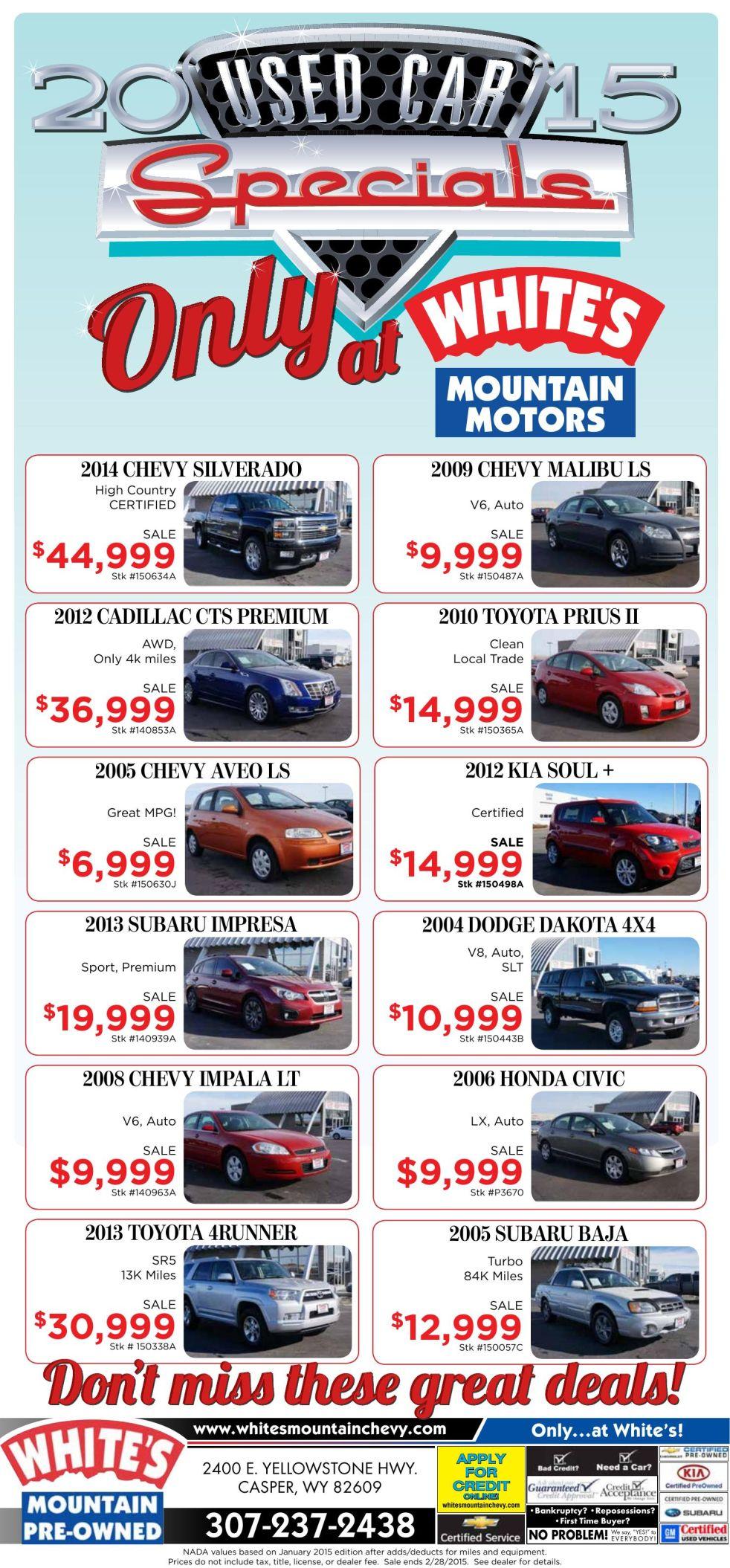 2015 Used Car Specials!