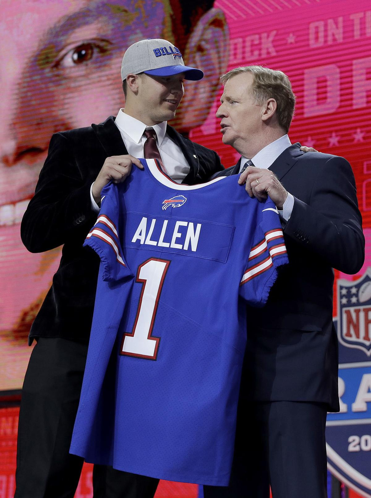 best website b4810 0d37d Photos: Wyoming's Josh Allen selected 7th overall in the NFL ...