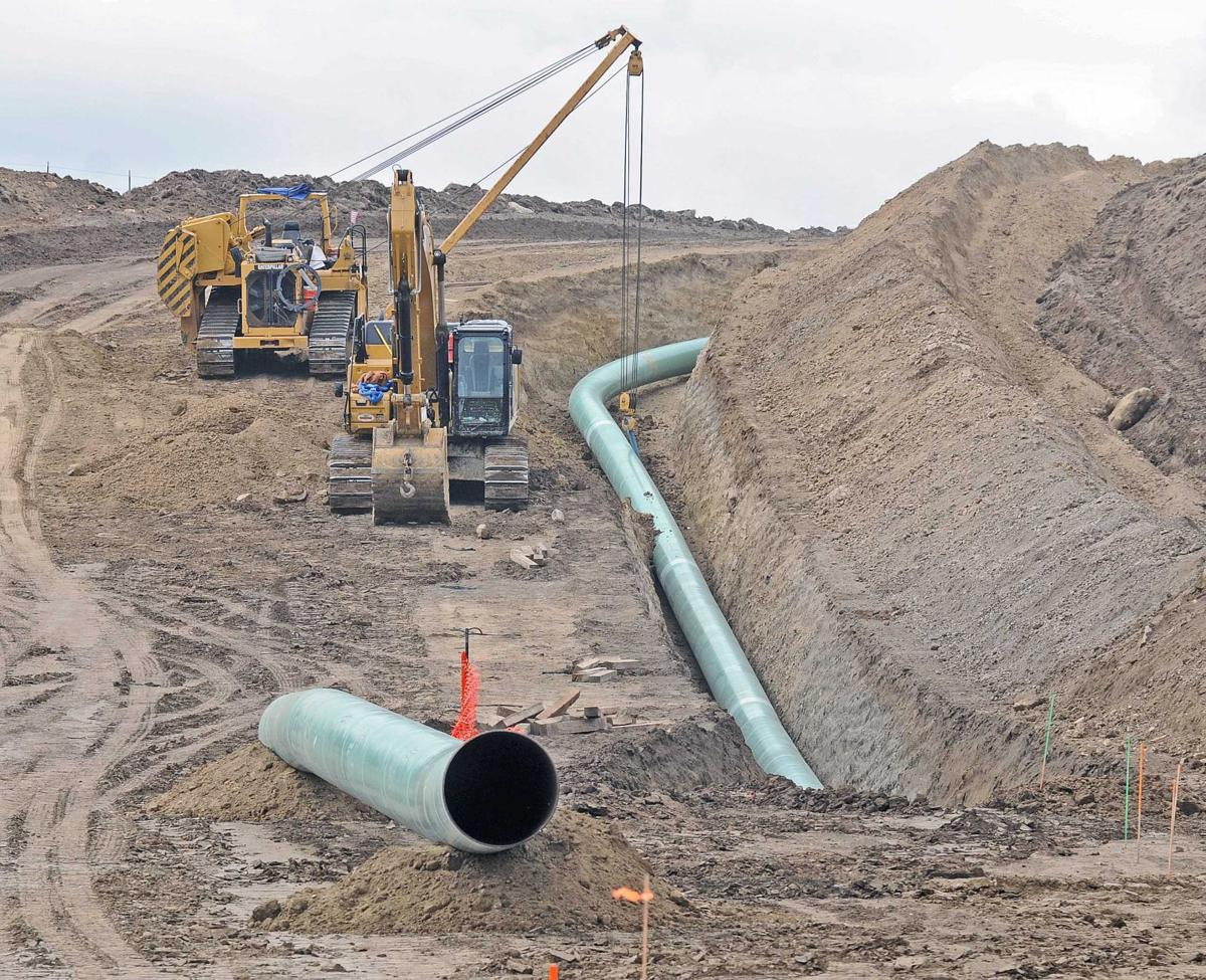 Pipeline construction stopped