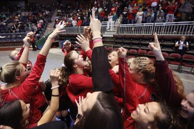 State Volleyball Reaction