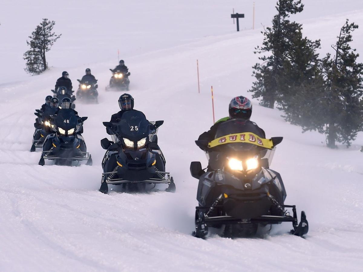 Yellowstone snowmobilers