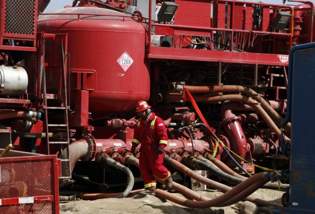 Colorado Fracking red machine