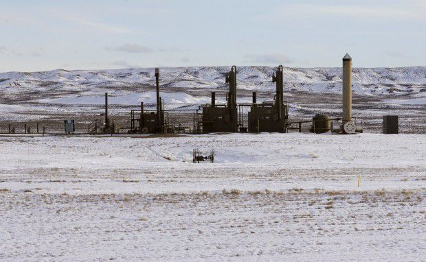 Pinedale Gas Fields flare stacks