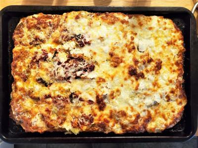 Pizza al taglio is a thick-crust pizza popular in Rome.