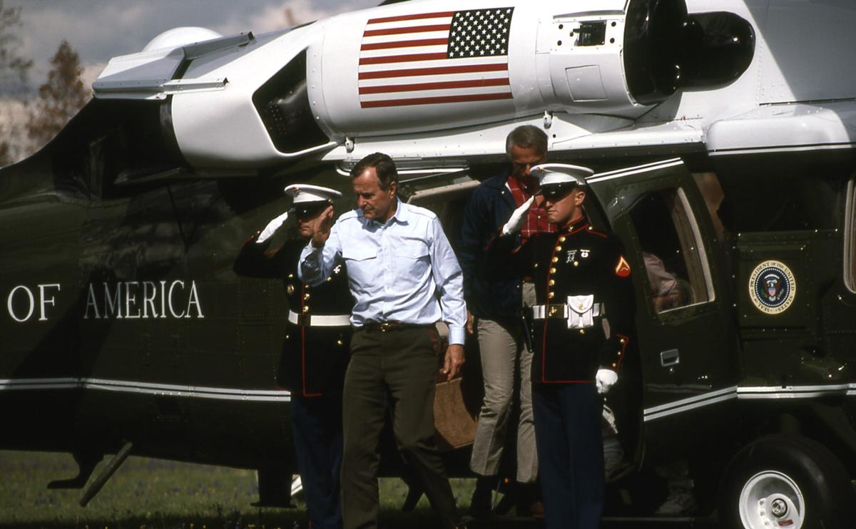 George Bush in Yellowstone
