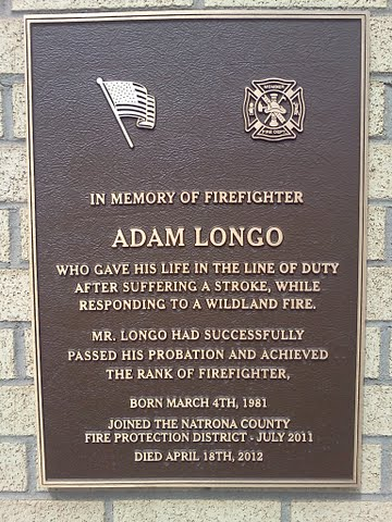 Plaque dedicated to fallen Natrona County firefighter on ...