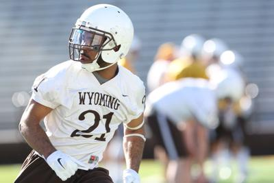 Wyoming Cornerback Antonio Hull Runs Through Drills During Spring Camp In 2016 Missed Most Of The 2017 Season Due To Injury