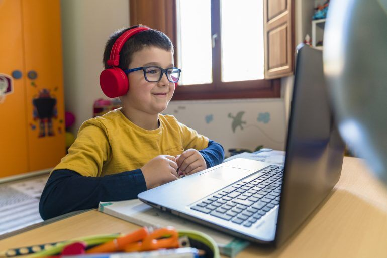 Headphones are an effective way to minimize distractions so kids stay focused on class.