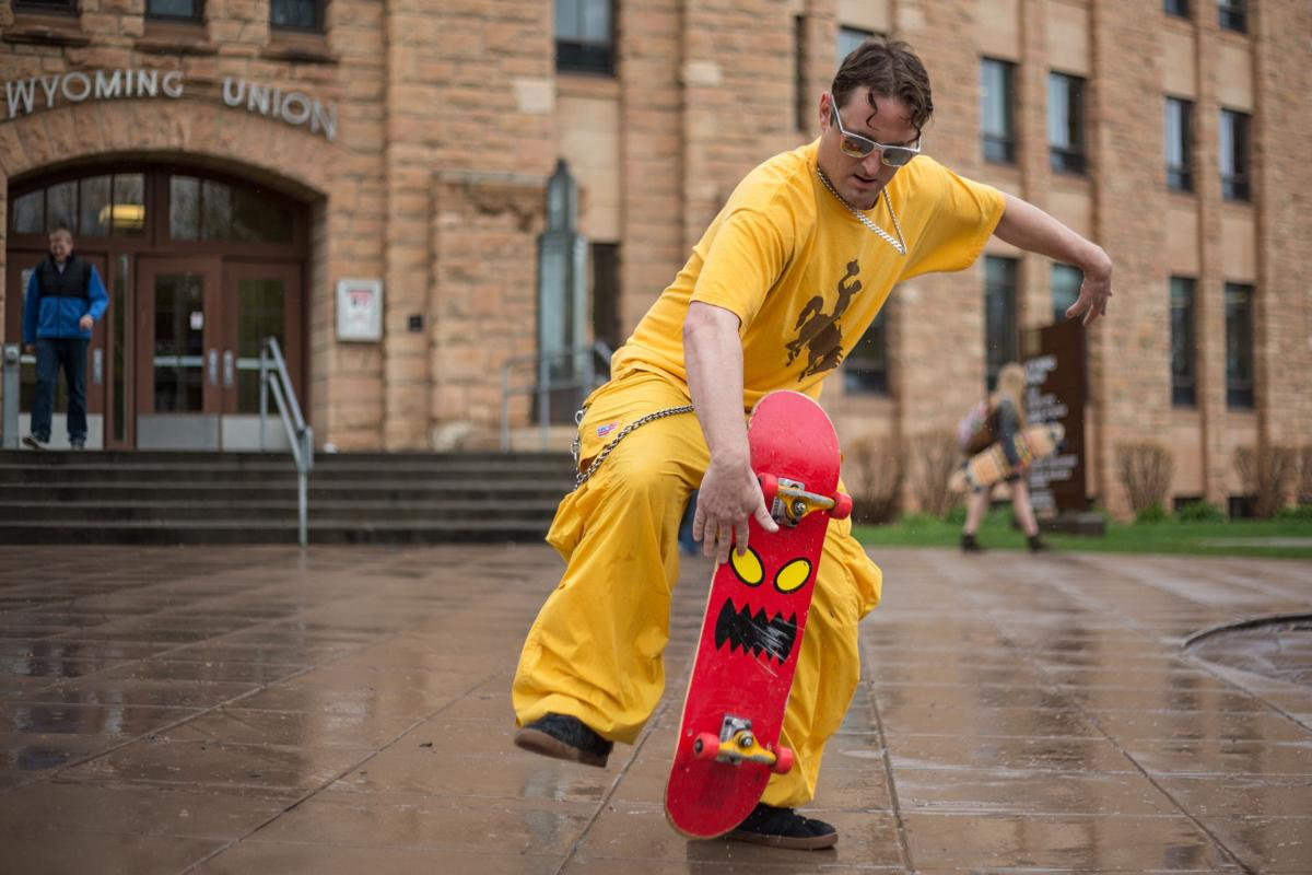 Riding with skater guy a university of wyoming fixture