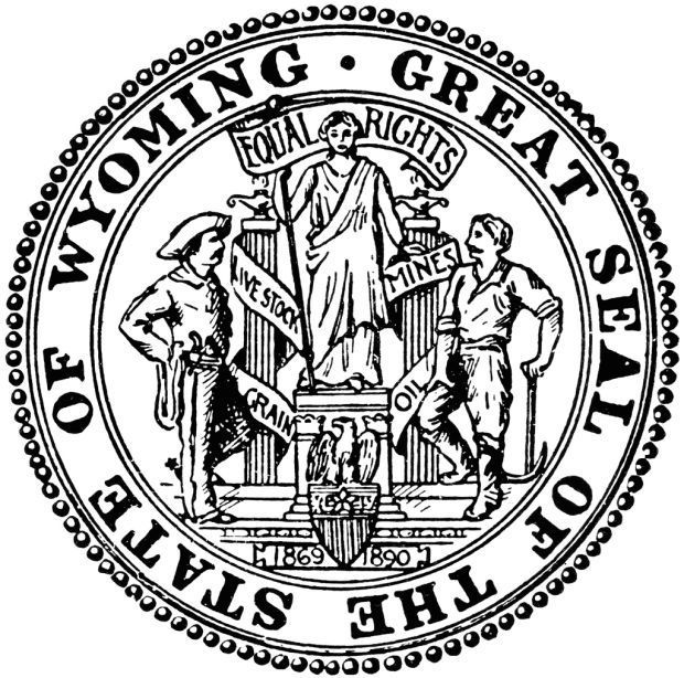 Image result for wyoming state supreme court seal