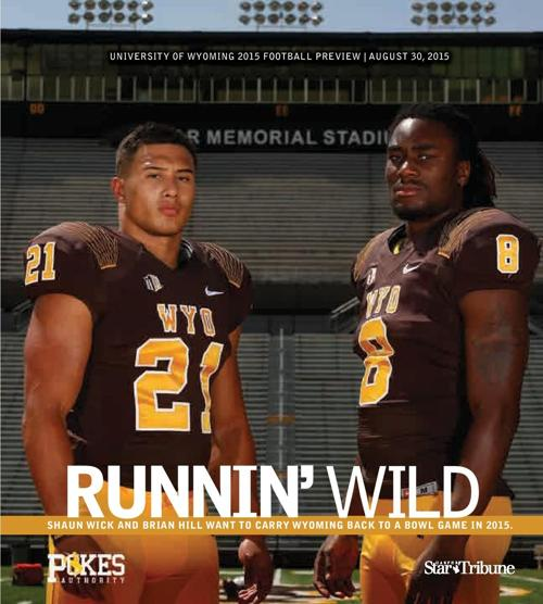 2015 Wyoming Football Special Section Cover