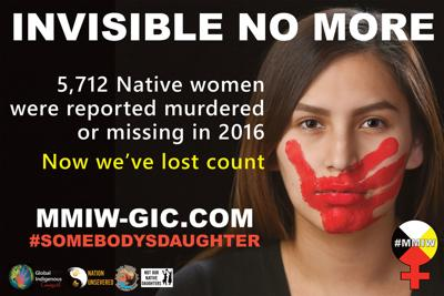 Missing and Murdered Indigenous Women billboard