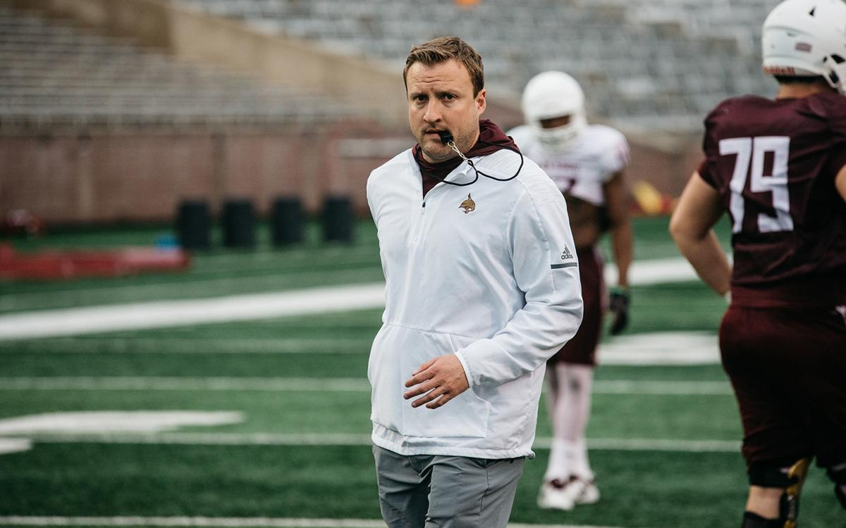 Texas State coach Jake Spavital