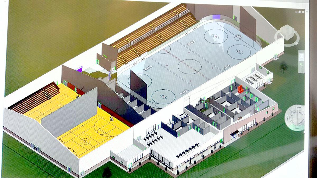 proposed east hills rec center would include ice rink basketball