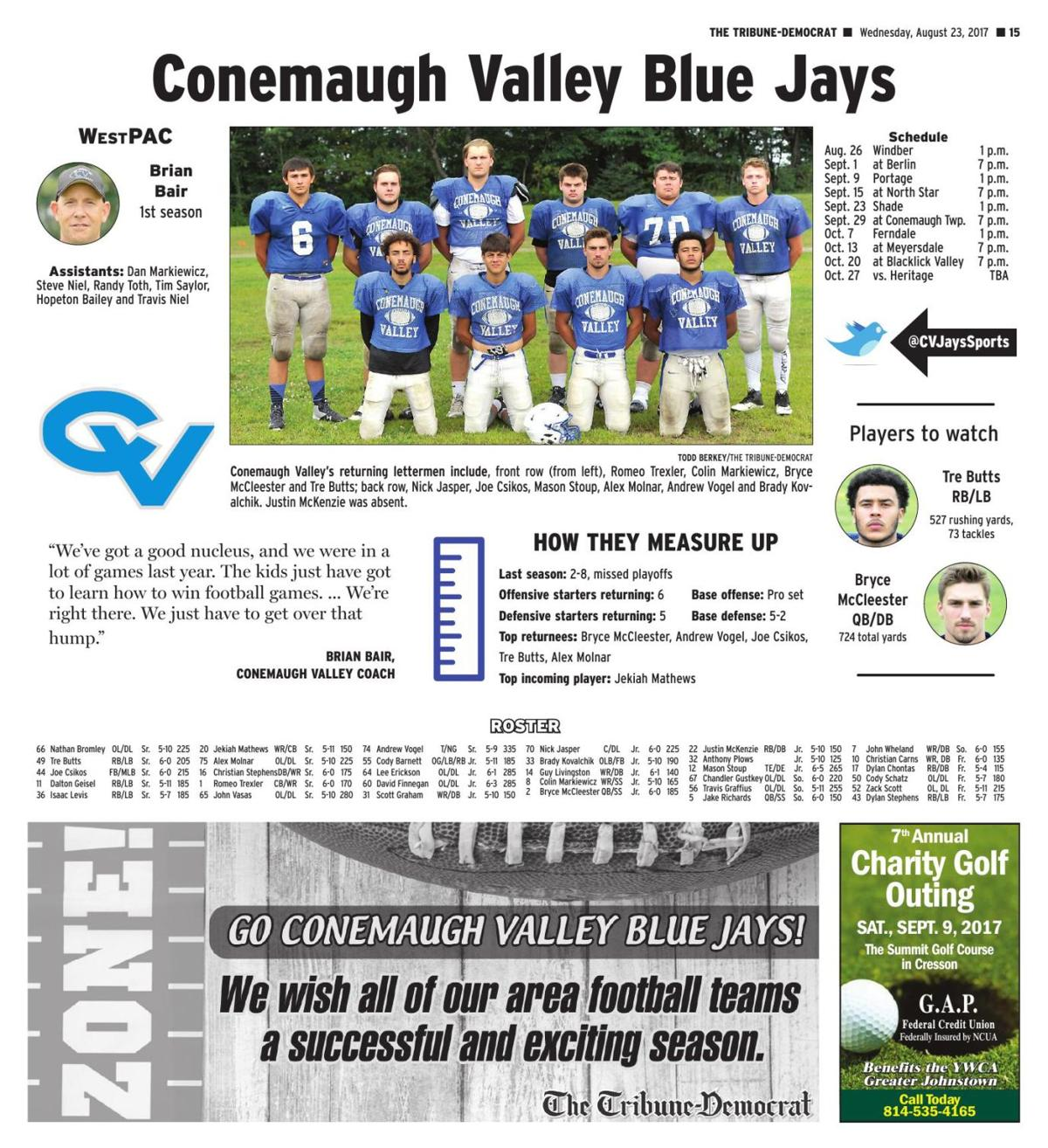 Conemaugh Valley football preview | Bair brings new look to