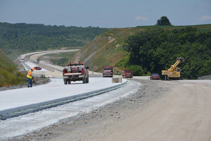 Nine miles of 11-mile Route 219 segment paved