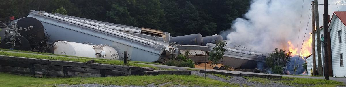 Photo gallery | Train derailment destroys Bedford County