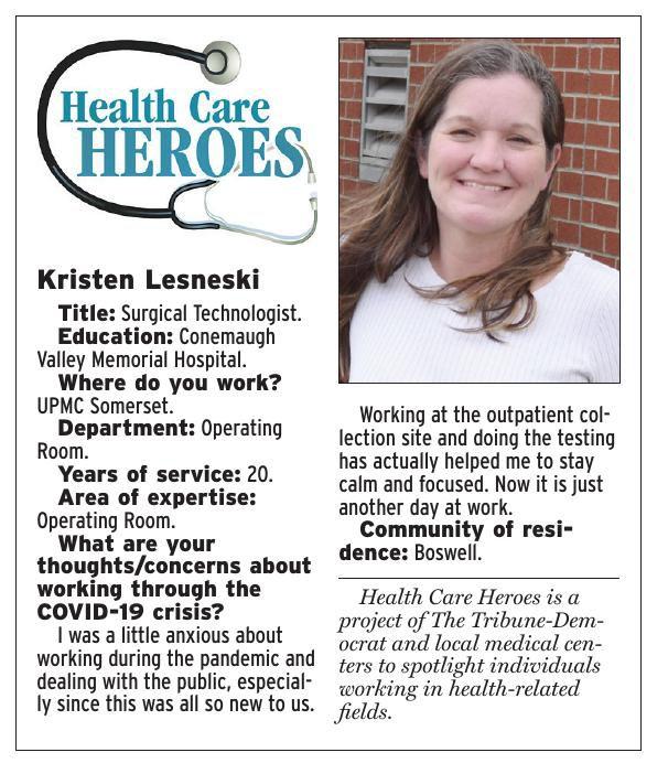 Health Care Heroes   Kristen Lesneski