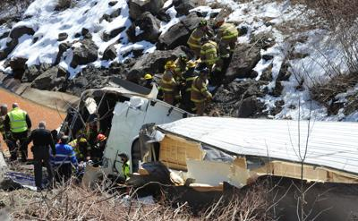 WATCH VIDEO: Tractor trailer crashes on Johnstown Expressway