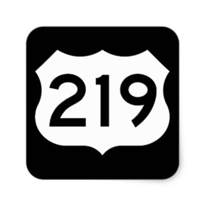 Route 219 sign