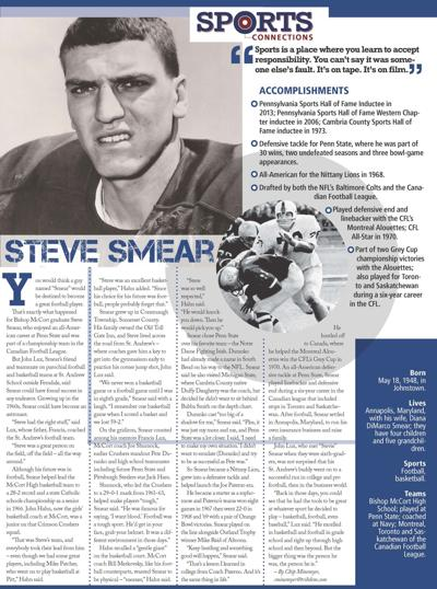 04eb67077 Sports Connections | 'Right stuff' made Smear a Johnstown legend, standout  at Penn State and in CFL