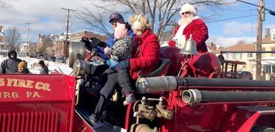 Santa on Dauntless Fire Truck