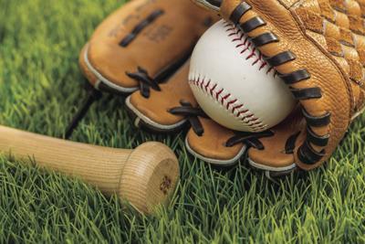 Baseball glove and bat