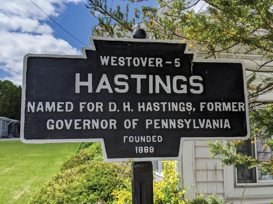 Hastings roadside marker