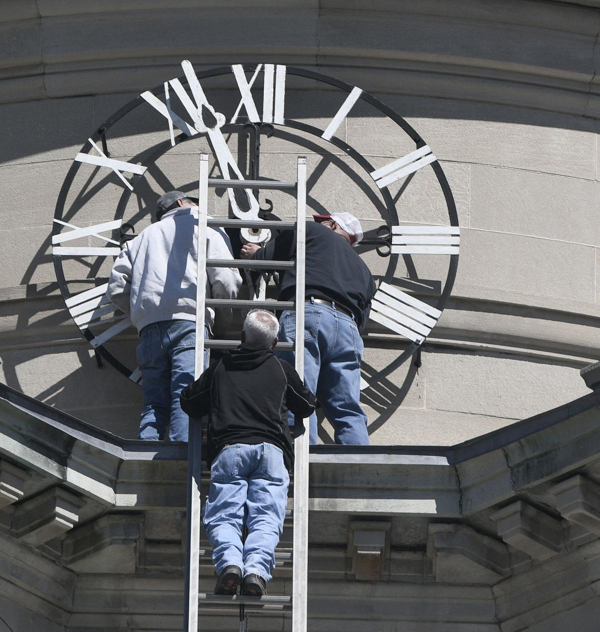 Somerset Courthouse clock repairs