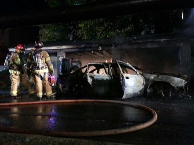 Ferndale car fire