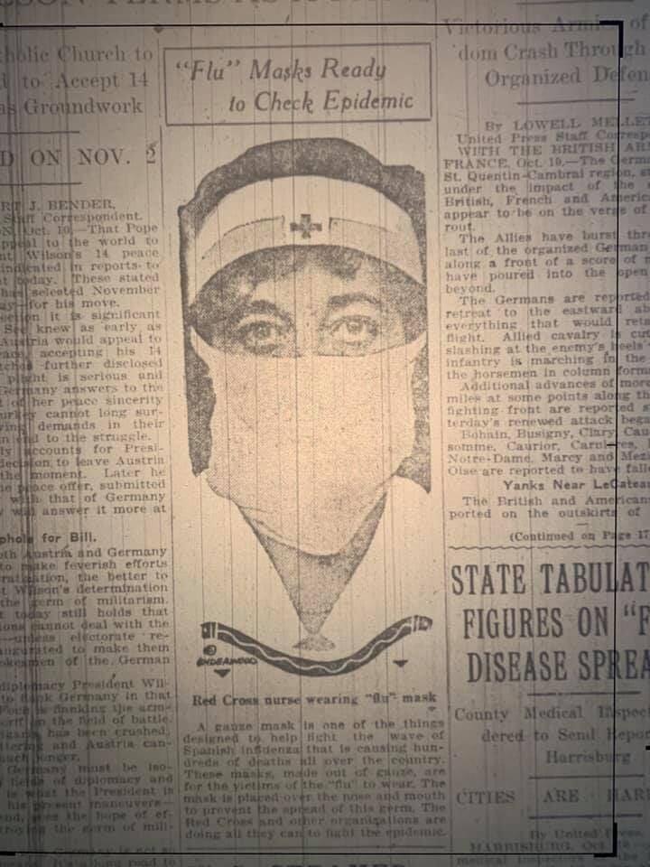 1918 flu Tribune